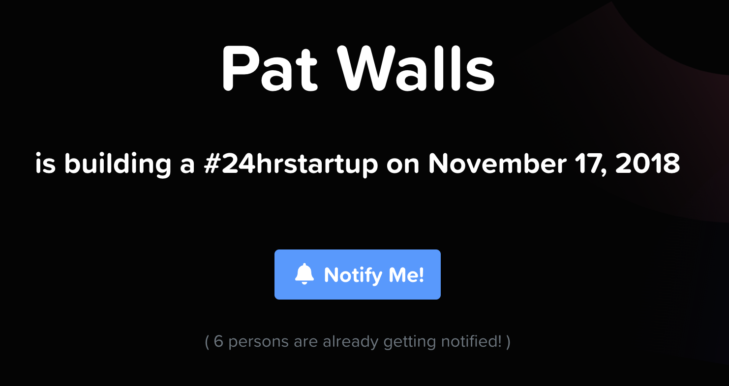 Notify Me Button for the 24hrstartup Challenge